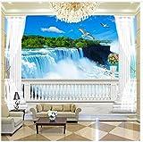 3D Tapete Wandgemälde Benutzerdefinierte Tapete Wandbild 3D Balkon römische Spalte Hintergrund...
