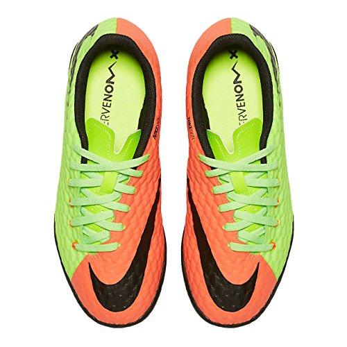 Nike Jr Hypervenomx Phelon Iii Tf - electric green/black-hyper ora Mehrfarbig