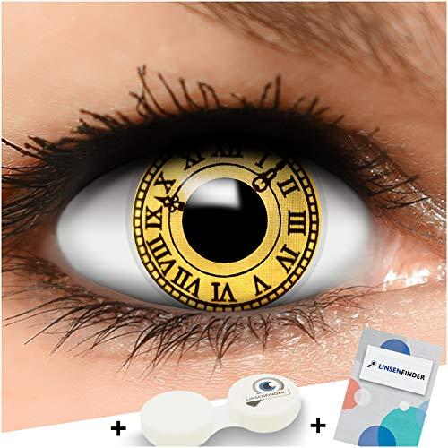 Sharingan Kontaktlinsen Date a Live in gelb inkl. Behälter - Top Linsenfinder Markenqualität, 1Paar (2 Stück)