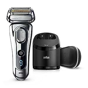 Braun Series99296cc elektrischer Rasierer / Rasierapparat(Reinigungsstation (Clean und Charge) und Premium Leder-Etui, Elektrorasierer einsetzbar als Trockenrasierer und Nassrasierer (Wet und Dry)), chrom