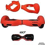 SILISKINZ Cubierta de la Caja de la Jalea del silicón de 180 Grados Hoverboard - para 6.5'Scooter Elegante de la Rueda 2 de Swegway (Rojo)
