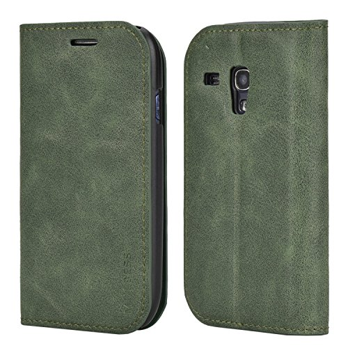 Custodia Samsung Galaxy S3 mini, Cover Samsung Galaxy S3 mini, Mulbess [Portafoglio Protettiva] Custodia In Pelle Con Supporto Per Samsung Galaxy S3 mini Custodia Pelle, Verde