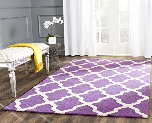 Safavieh Ava handgetufteter Teppich, CAM121K, Lila / Elfenbein, 182 X 274  cm (Safavieh-teppiche Lila)