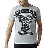 Huetrap Men's Roadster Round Neck Graphic Tee