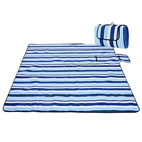 Picknickdecke Wasserdicht Fleece Lightweigt Picknickmatte 200x200cm Stranddecke Für Reise Camping Strand Outdoor Family Party