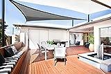 SUNLAX Dreieck rechtwinklig 5x5x7m Sonnensegel Sonnenschutz Garten, UV-Schutz wetterbeständig HDPE Segel, Graphit
