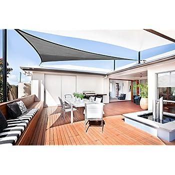 Sunnylaxx Voile dombrage Triangulaire 3 x 3 x 3 m/ètres pour Jardin terrasse Couleur Cr/ème imperm/éable et r/ésistante
