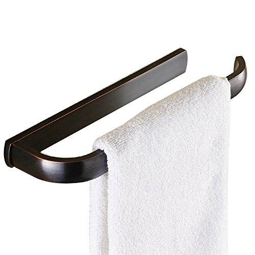 Handtuchhalter für Badezimmer und Küche, 30cm Messing Handtuchstange Öl eingerieben Bronze, Platzsparender Aufhänger mit elegantem und modernem Design (Eingerieben 30 öl Bronze Handtuchhalter)