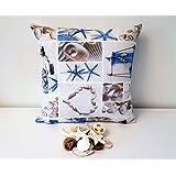 Handgefertigt Dekorative An der Küste Kissen Cover. Größe 45x45cm und 35x50cm - Handmade Decorative At the Seashore Cushion Cover.