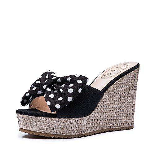 Chaussures de Dame été doux archet/Plateforme de Word coins en sandales et pantoufles B