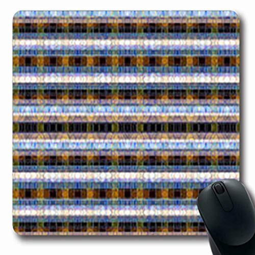 Mousepads Geometric Abstract Tartan Pattern Modern Striped Grey Gray Gingham That is Repeats Retro Oblong Shape 7.9 x 9.5 Inches Oblong Gaming Mouse Pad Non-Slip Mouse Mat -