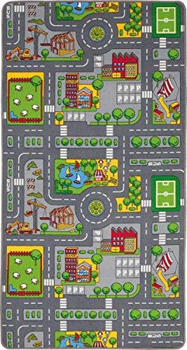 *Duoplay 100×190 A4 Wende-Spielteppich, City oder Farm*