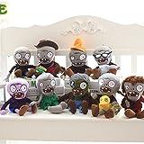 SunBai Creative Zombie Cartoon poupée poupées Jouets en Peluche virale Halloween Geek Cadeau Dolls pour Mon Petit ami, Un Ensemble de 9 Seulement (l'esprit économique) avec 28 cm