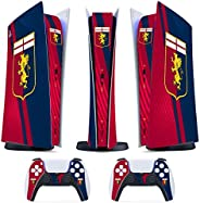 Skin PS5 Digital / Disk- Genoa Ultras Calcio - Cover Adesiva Opaco Satinata HD Antigraffio Rimovibile Made in