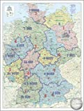 Pinnwand im Alurahmen: ORGA-Karte mit AC Nielsen-Gebieten