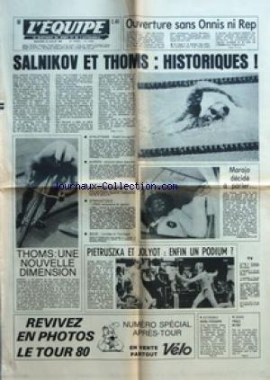 EQUIPE (L') [No 10633] du 23/07/1980 - OUVERTURE SANS ONNIS