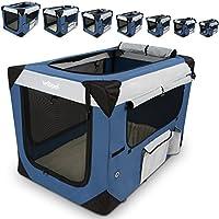 Klappbare Transportbox für Hund Katze & Kleintier in den Größen S – XXXXL wählbar inklsuive Polster