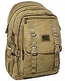 NEU Rucksack AOKING Canvas Wanderrucksack OUTDOOR Daypack Sportrucksack Schwarz Olive Beige (beige)