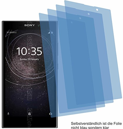 4ProTec 4X Crystal Clear klar Schutzfolie für Sony Xperia L2 Bildschirmschutzfolie Displayschutzfolie Schutzhülle Bildschirmschutz Bildschirmfolie Folie
