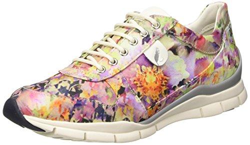 Geox D Sukie A, Scarpe Low-Top Donna Multicolore