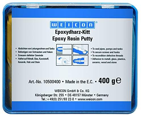 WEICON Epoxydharz-Kitt 400g knetbare Universal-Reparaturmasse im Komplettpaket -