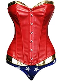 32cb138cf0 Amazon.co.uk  Red - Bustiers   Corsets   Lingerie   Underwear  Clothing