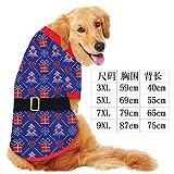 Xiaochushi Sweatshirt Mix&Match Super Soft Jumper PulloverCasual Long SleeveTops T-Shirt Autumn and Winter Golden Retriever Samoyed Dog Pet Clothes Dog Clothes-Checkered Black Belt_3XL