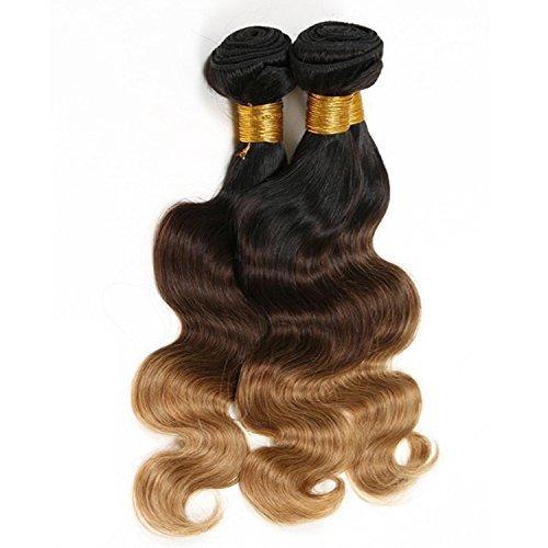 "Ohlees ® 7A Brazilian Virgin Hair Human hair ombre haarverlängerungen body wave 3 strängen brasilianischen jungfräuliches haar ombre brasilianischen haar remy unverarbeitete weben menschenhaar billigen 3 bündel 18""20""22"""