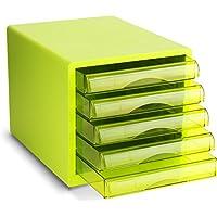 Met Love Gabinete de Archivo de Escritorio Gabinete de Almacenamiento de Datos de 5 Capas Gabinete de Almacenamiento de Documentos en el hogar Gabinetes de Archivo Verde