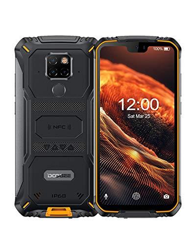 DOOGEE S68 Pro 4G Outdoor Handy, IP68 / IP69K Wasserdicht Smartphone ohne Vertrag, Helio P70 6GB + 128GB, 6300mAh Kabellose Aufladung, 21MP + 16MP AI Kamera, 5,9 Zoll FHD +, NFC - Orange