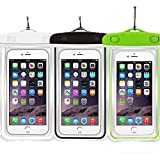 1 packblue + 2 Pink Universal Wasserdichte Handy-Fall Dry Bag casehq für iPhone 4/5/6/6S/6Plus/6splus Samsung Galaxy S3/S4/S5/S6 etc. Wasserdicht, Schnee Proof Pouch für Handy bis 5,7 Zoll, waterproof 3Pack White+Black+Green