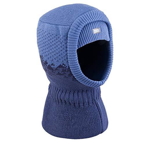 Galeja TuTu Baby-Jungen Mütze Schlupfmütze Kindermütze Wintermütze Baumwollfutter Blau 44-48 (Winter Hut Verkauf)