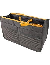 Simplefirst Hand Bag Tidy Travel Cosmetic Pocket Handbag Travel Makeup Travel Bag Organizer Insert Lining Tidy Cosmetic Purse Handbag Organiser with Multiple Pockets Pouch Design (Grey)