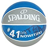 Spalding Ball NBA player dirk nowitzki 83-379Z, grau/royal, 7, 3001586010317