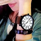 Bella Orologi, Yazole donna Orologi di cuoio di modo noctilucous vigilanza di quarzo orologio analogico femminile per le donne gli uomini ( Colore : White/Brown , Sesso : Donna )
