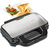 Andrew James 900W Deep Fill Toastie Maker For 2 x Extra-Thick Toasted Sandwiches - 2 Year Warranty