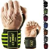 C.P. Sports Handgelenkbandagen DAS ORIGINAL/Bänder/Bandagen Bodybuilding, Handgelenkbandage, Fitness (sw-weiß)