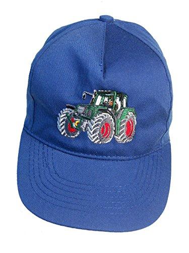Zintgraf Jungen Cap Baseball Kappe Traktor Stickerei Grüner Schlepper (Azurblau)