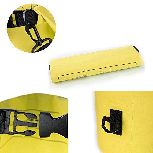 500D Tarpaulin 5L Robuster Trockenbeutel Packsack,Kompakt und leicht Gelb