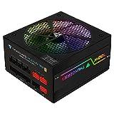 ThunderX3 PLEXUS700 - Fuente de alimentación para PC (700 W, iluminación RGB, Ventilador 14 cm) Color Negro