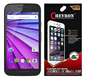 Chevron AquaShieldz Pro Diamond Screen Guard Protector For Motorola Moto G Turbo (Pack Of 3)