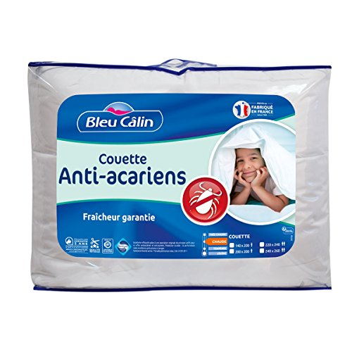 Bleu Câlin Couette Anti-Acariens Sanitized Blanc