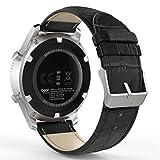 MoKo Bracelet de Gear S3 Watch en Premium Cuir Véritable Crocodile Grain Replacement...