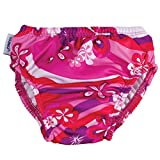 Finis Mädchen Swim Diaper Flower Power 3T Schwimmen Windel, pink/Purple/White, 15-19 kg
