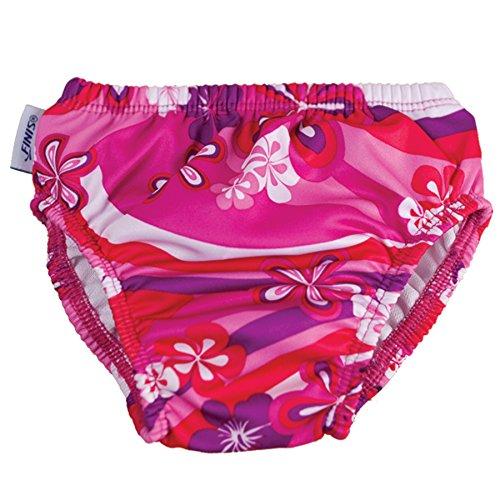 Finis Mädchen Swim Diaper Flower Power 4T Schwimmen Windel, pink/Purple/White, 17-20 kg