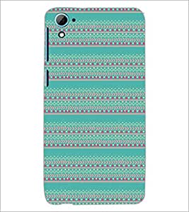 HTC DESIRE 826 ZIGZAG PATTERN Designer Back Cover Case By PRINTSWAG