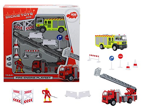 Dickie Fire Engine Playset, Multi Color