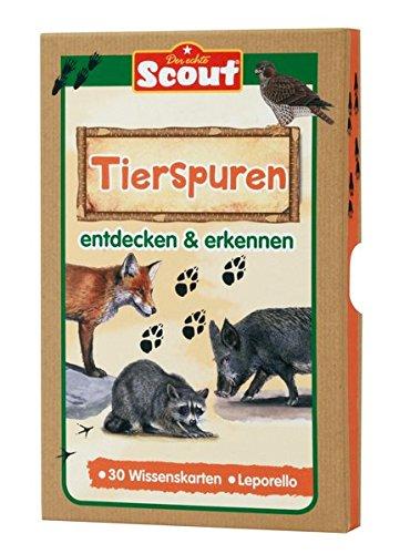 Scout Lernkarten-Box - Tierspuren: entdecken & erkennen