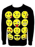 Mädchen Emoji Sweatshirt Neue Kinder Emoticons Smiley Gesicht Pullover Top Hose 5-13 Jahre