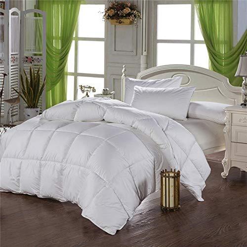 Unexceptionable-Bettdecken Weiße Gänsedaunendecke Winterdecke Steppdecke mit 100% Baumwollbezug Queen King Size für Hotel,220x240cm-4.2KG - Queen-size-weiße Daunendecke
